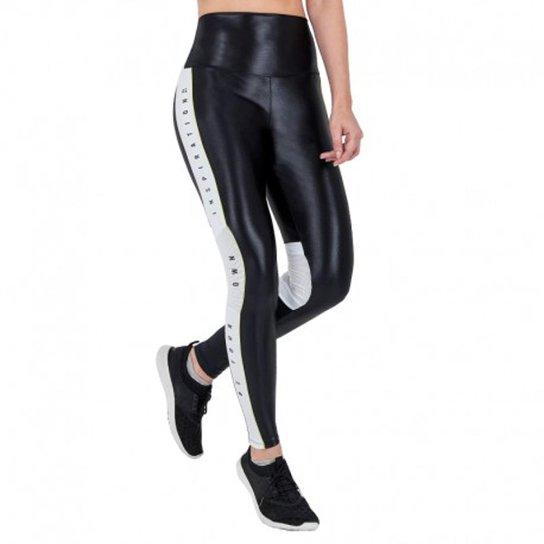 b30034af7 Calça Legging Alto Giro Couro Recortes Feminina - Preto | Netshoes