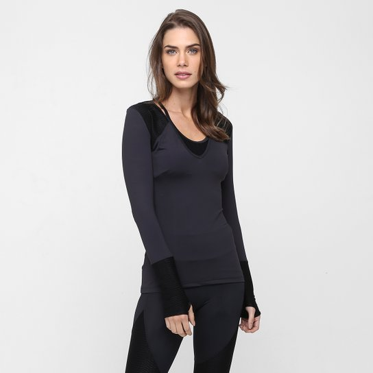 767f81088 Blusa Colcci Fitness Recorte Textura - Compre Agora | Netshoes