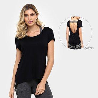 Camiseta Colcci Fitness Recorte Tiras 09a343ecfef20