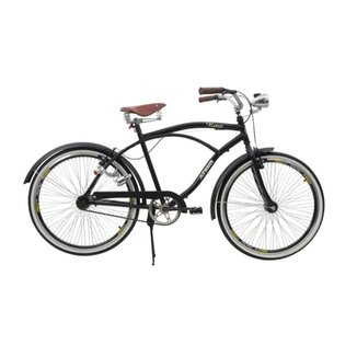 738f9138b Bicicleta Athor Aro 26 Retro Preta c  Paralmas e Farol