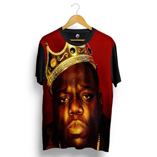 818f66d0d Camiseta BSC Notorious Big Full Print - Preto - Compre Agora