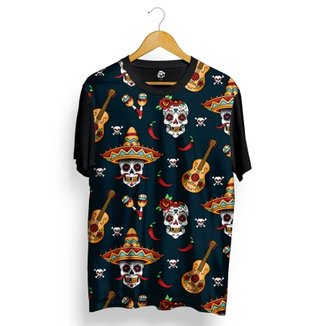 Camiseta BSC Skull Music Full Print