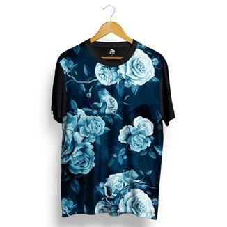 8ffdfe823e550 Camiseta BSC Blue Rose Full Print