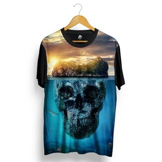 Camiseta BSC Mountain Skull Full Print