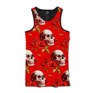 Camiseta BSC Regata Smiling Skull Red Rose Full Print ec0f5869553f0