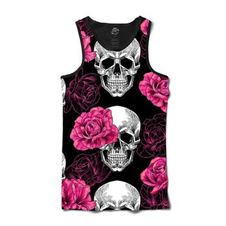 Camiseta BSC Regata Skull Pink Rose Full Print e2a20674784