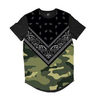 Camiseta BSC Longline Bandana Camuflada Sublimada Masculina 236de11bca7