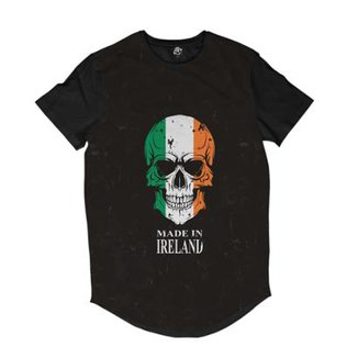 Camiseta Longline BSC Caveira País Irlanda Sublimada f81941366a1