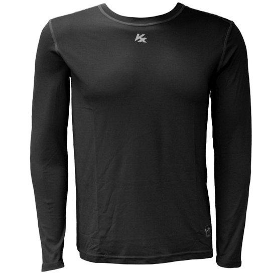 Camisa Térmica Kanxa Com Proteção Solar - Preto - Compre Agora ... 1f4f33805acb9