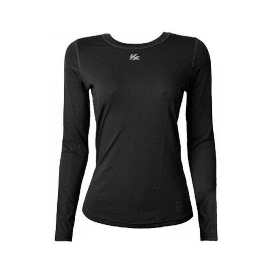 Camisa Térmica Kanxa Infantil Feminina Fator Proteção Solar Uv50 6277 -  Preto 26eff101492ae