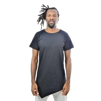 15636d84bf724 Camiseta Assimétrica Lisa Masculina