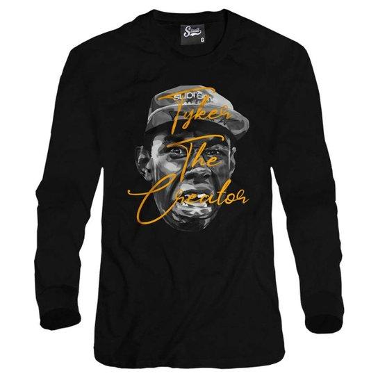 849945e0c8 Casaco Moletom Skull Clothing Tyler The Creator Masculino - Preto ...
