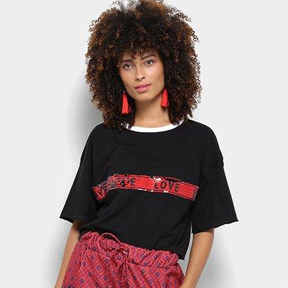 a6e16ef275 Camiseta My Favorite Thing (s) Paetê Dupla Face Feminina