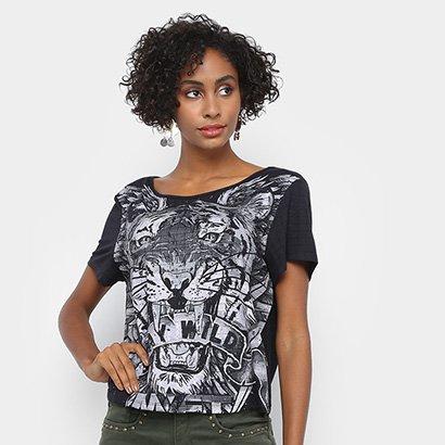 Camiseta My Favorite Things Tigre Stay Wild Feminina
