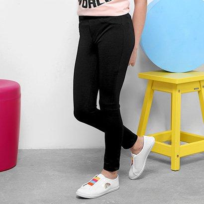 Calça Legging Infantil Dimy Candy Básica Feminina