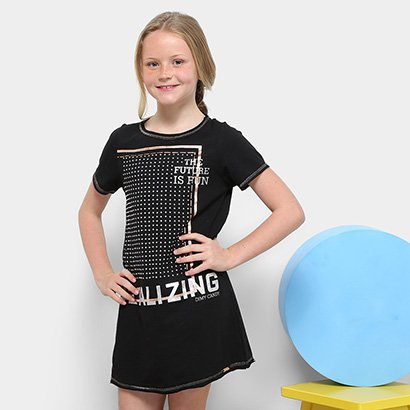 Vestido Infantil Dimy Candy The Future Is Fun