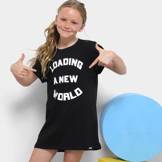8d68aeea4 Camiseta Infantil Dimy Candy Estampada Feminina - Preto - Compre ...