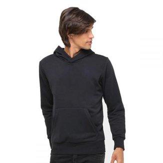 4a595a708b6b3 Moletom Liso Blusa Capuz Bolso Canguru Clik da Moda