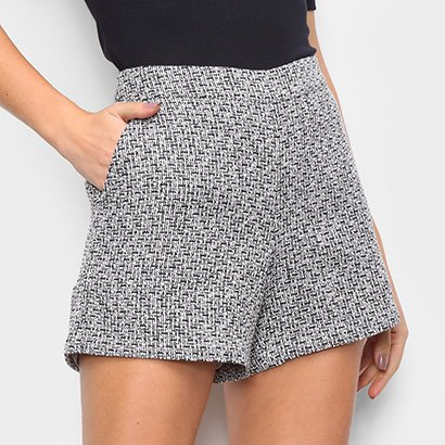 Short The Style Box Tweed Feminino