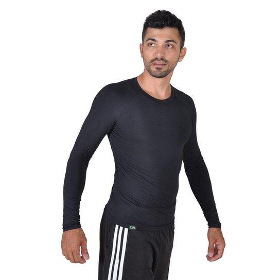 Camiseta Less Now Fator Proteção Solar 50 Uva Uvb Masculina - Preto ... 0407d96737d95