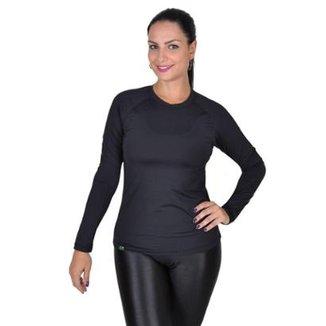 Camiseta Feminina Fator Proteção Solar 50 Uva Uvb Less Now c468177b602