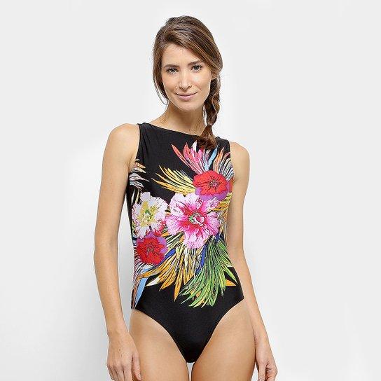 83770d7c2 Maiô Phra Yai Decote Costas Estampa Floral | Netshoes