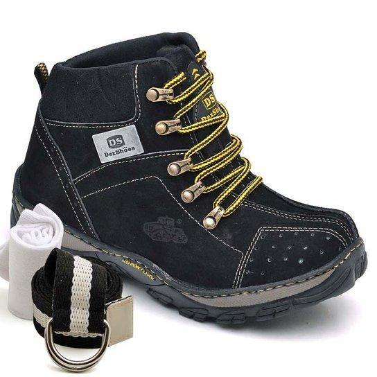 0954dd41ce Kit Bota Adventure Dexshoes com Cinto e Meia - Preto | Netshoes