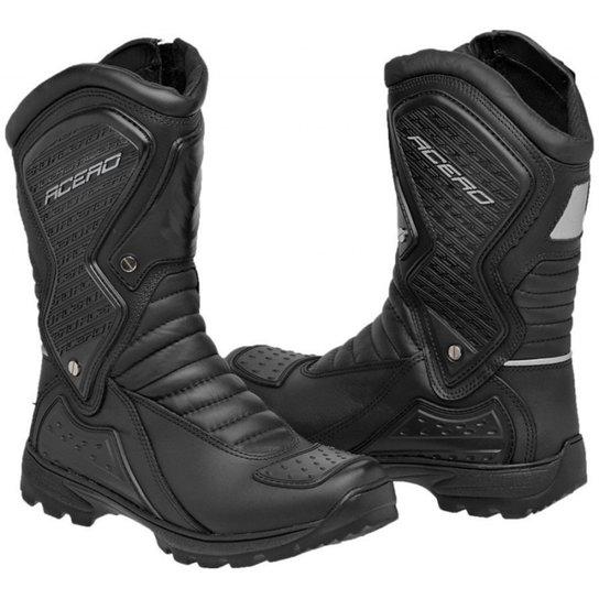 eaa6d543a0031 2e35332210e Bota Coturno Motociclista Acero Speed - Preto - Compre Agora  Netshoes ...