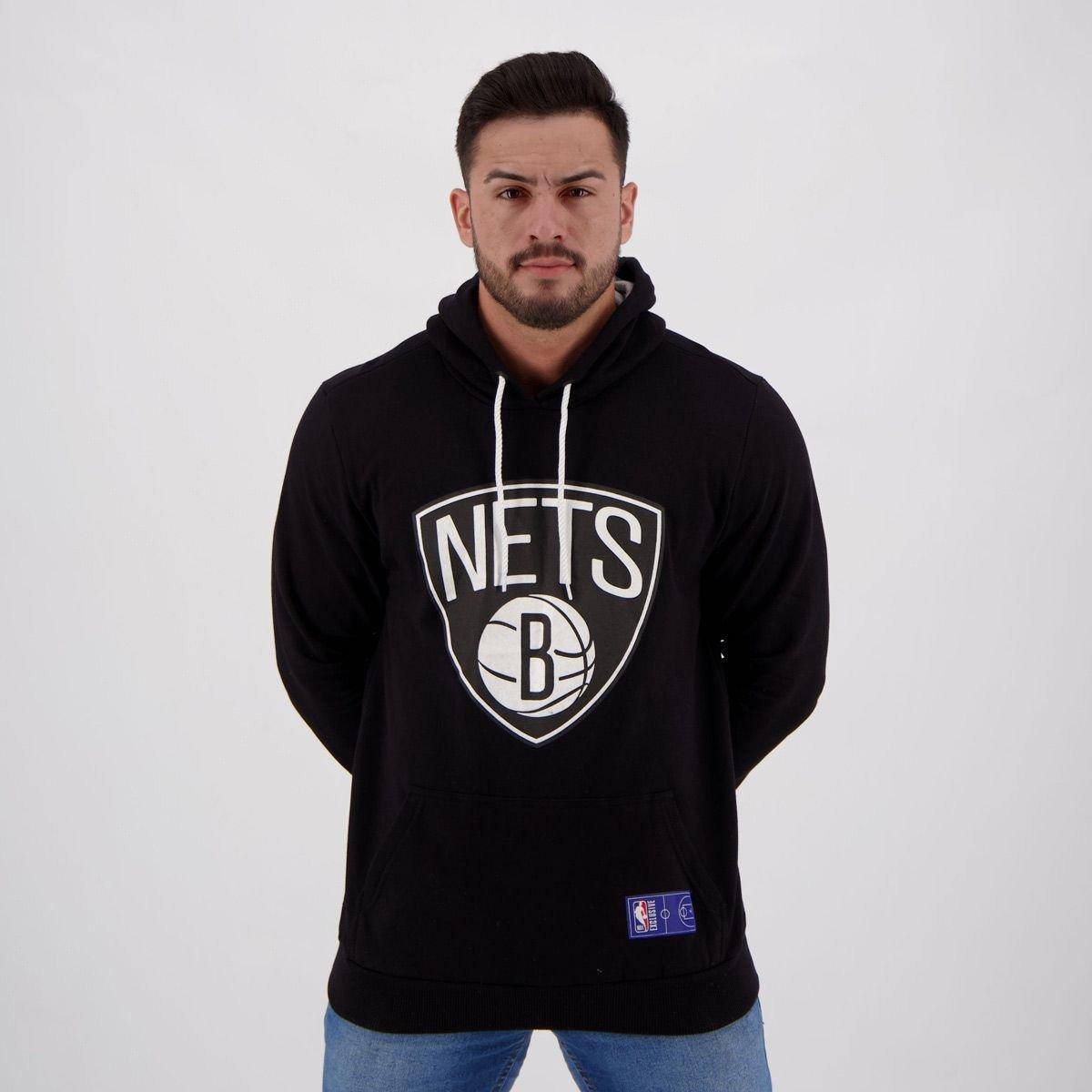 Moletom NBA Brooklyn Nets Canguru Masculino