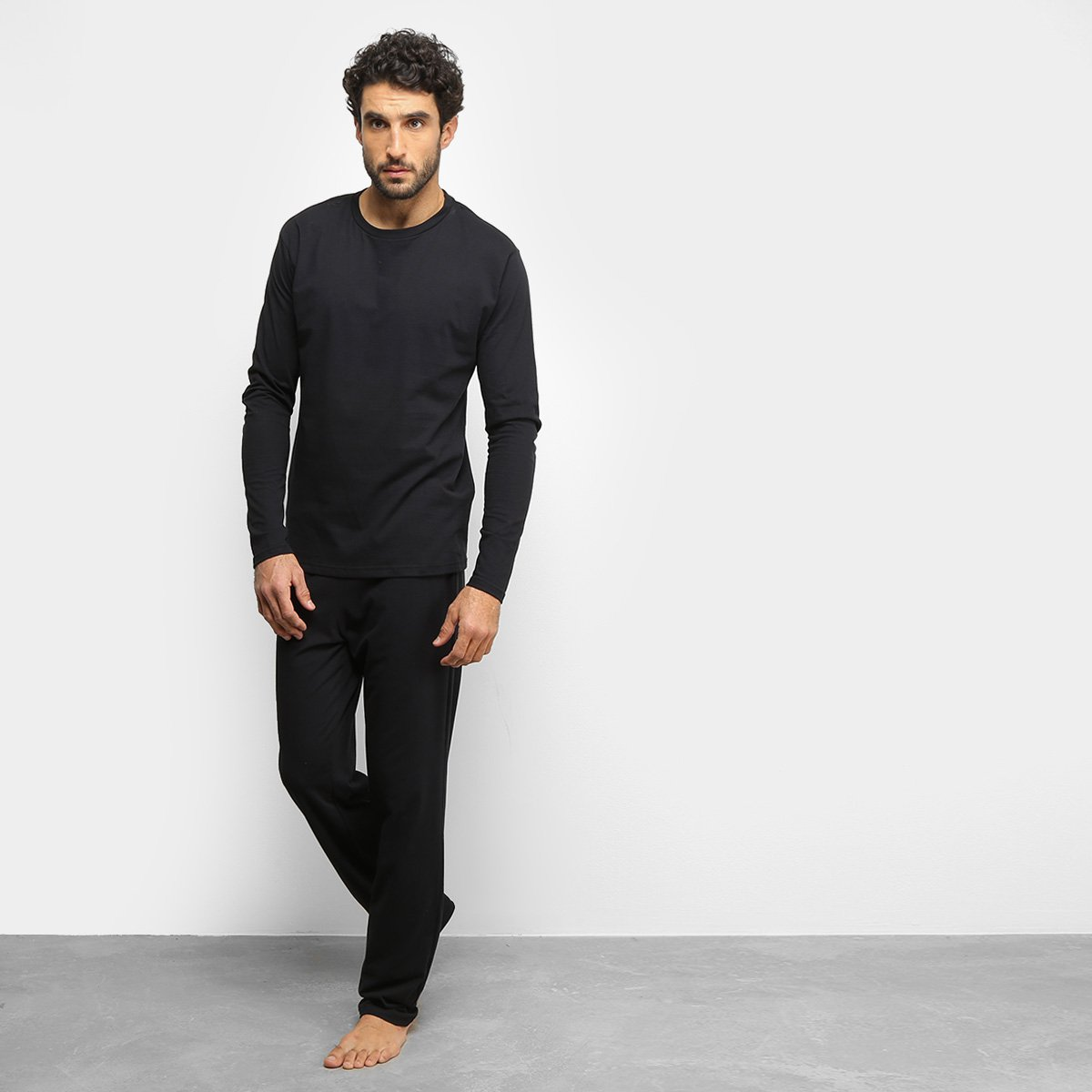 Foto 1 - Conjunto Pijama Jimmiy'z Longo Básico Masculino