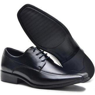 5652a7205 Sapato Social Lsb Shoes Espumado Leve Masculino