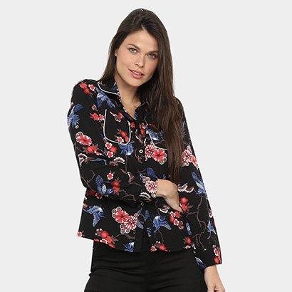 Camisa Manga Longa Only Fashion Feminina