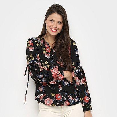 Camisa Only Fashion Estampada Manga Longa Feminina