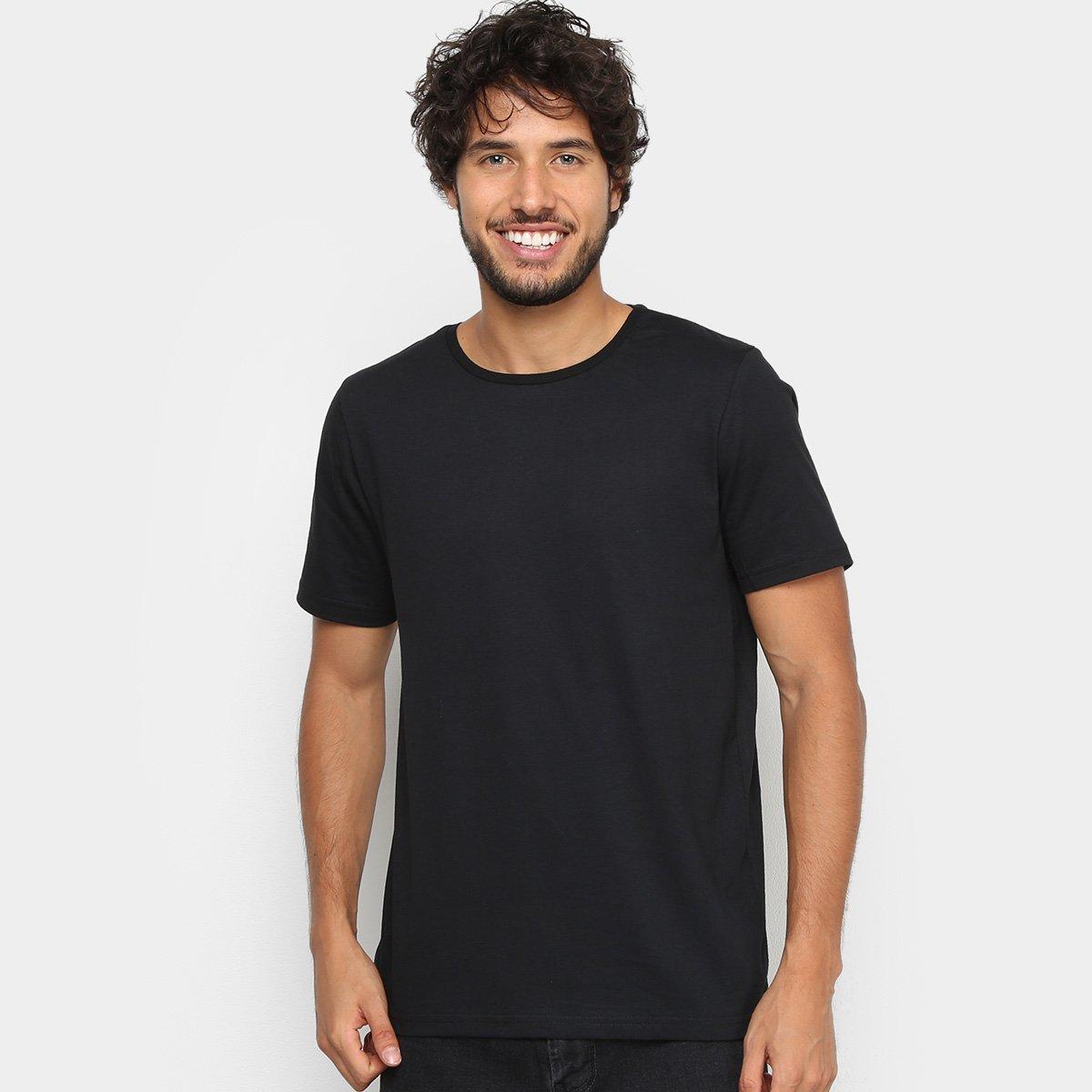 Kit Camiseta Básica c/ 5 Peças Masculinas - Tam: G - 1
