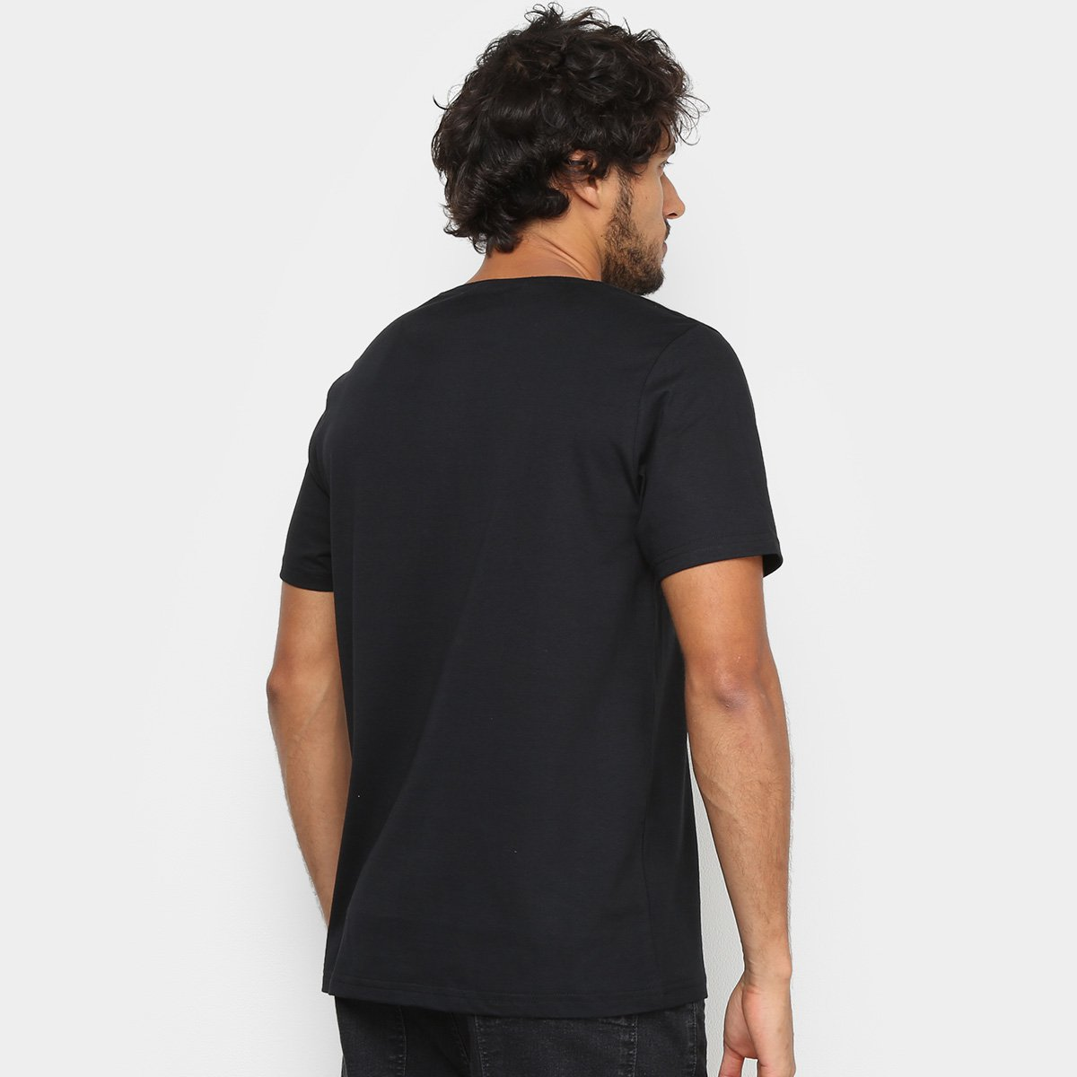 Kit Camiseta Básica c/ 5 Peças Masculinas - Tam: G - 2