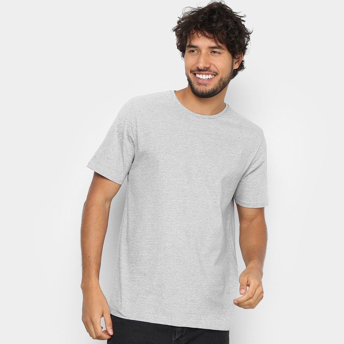 Kit Camiseta Básica c/ 5 Peças Masculinas - Tam: G - 4