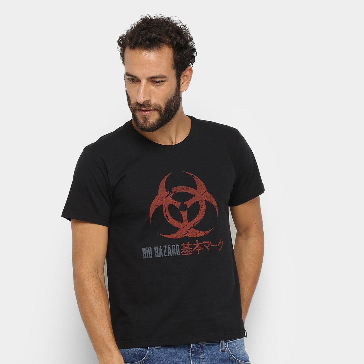 Camiseta Resident Evil Biohazard Masculina