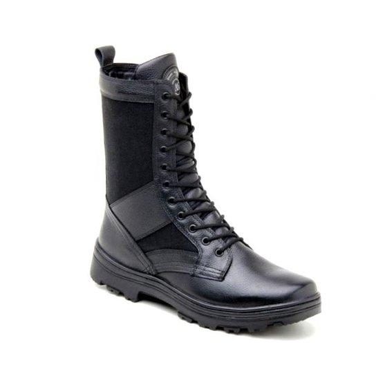 6037444434 Bota Atron Shoes Coturno Militar Couro Preto - Preto - Compre Agora ...