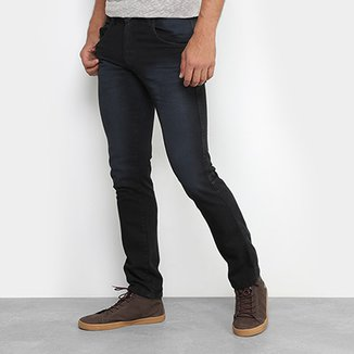de98c34296df0 Calça Jeans Skinny Preston Estonada Black Masculina