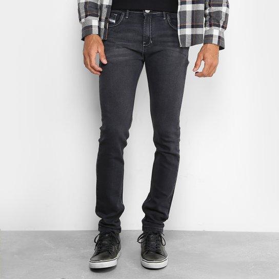 35acf606f Calça Jeans Preston Classic Black Estonada Skinny Masculina - Preto ...