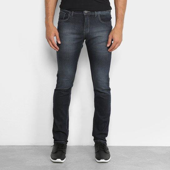 80815cc83 Calça Jeans Slim Preston Estonada Black Masculina - Preto | Netshoes