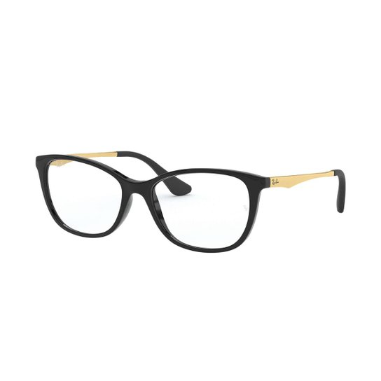 3d25a12c4 Armação de Óculos Ray-Ban RB1565 Feminina - Preto | Netshoes