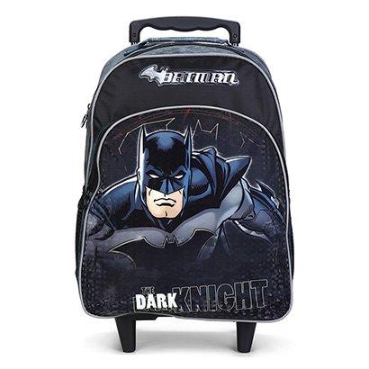 Mochila Escolar Infantil Xeryus Batman Com Rodinhas