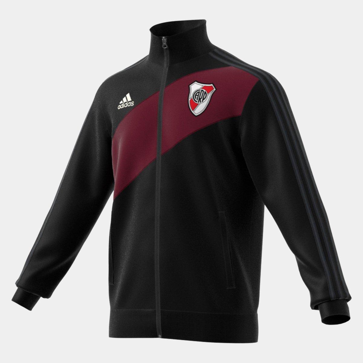 Jaqueta River Plate Adidas 3-Stripes Track Top Masculina