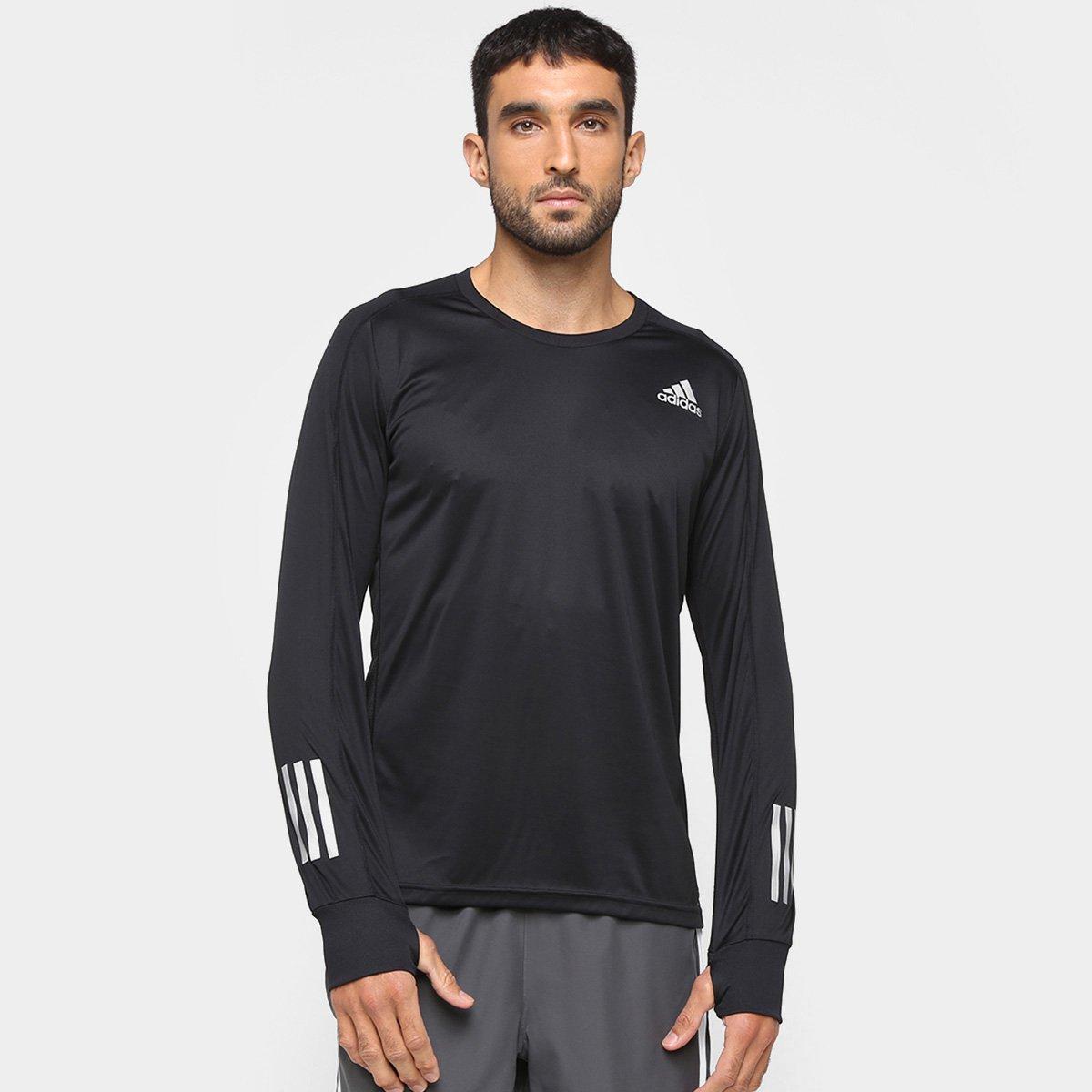Camiseta Adidas Own The Run Manga Longa Masculina