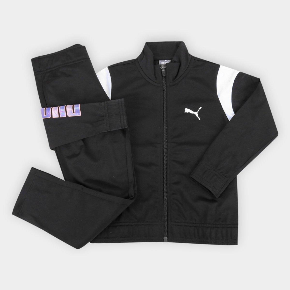 Conjunto de Agasalho Juvenil Puma Alpha Suit Feminino