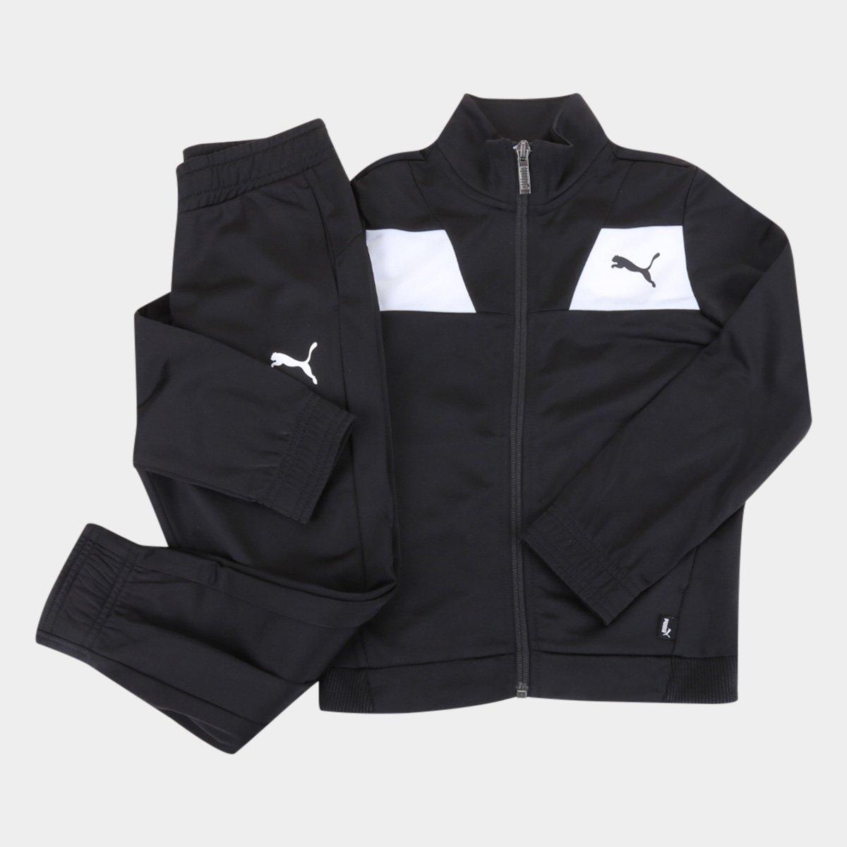 Conjunto Agasalho Juvenil Puma Poly Suit Masculino