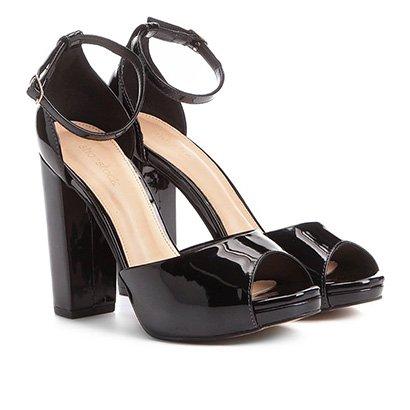 cba2cc12df Sandália Shoestock Meia Pata Salto Grosso Feminina