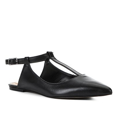 Sapatilha Couro Shoestock Flat Tira Feminina