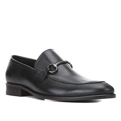 Sapato Casual Couro Shoestock Bridão Masculino